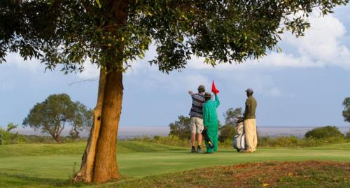 A game of golf at the Mugie coarse