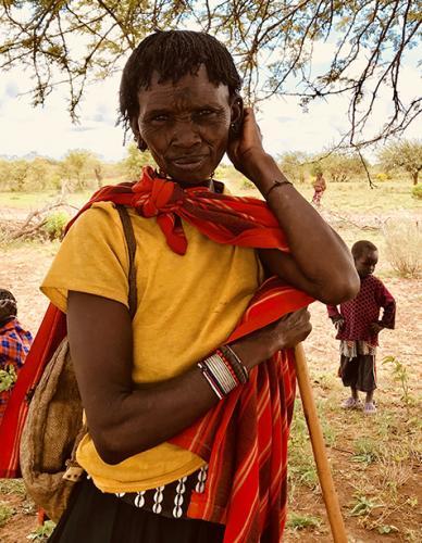 A pokot woman at an outreach clinic
