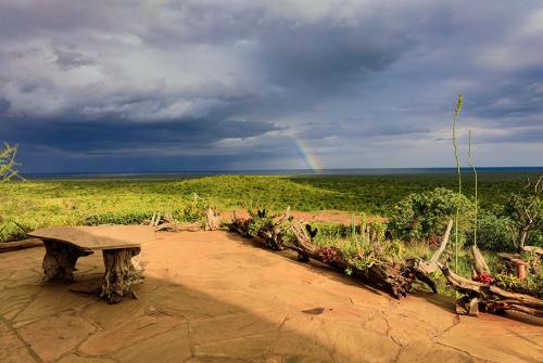 Rainbow views from Mugie House